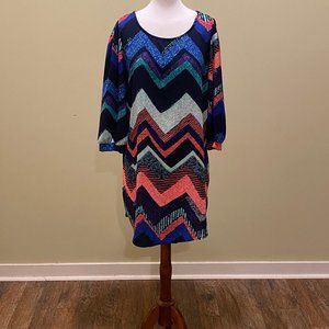 Love Culture Chevron Print Dress Size Medium